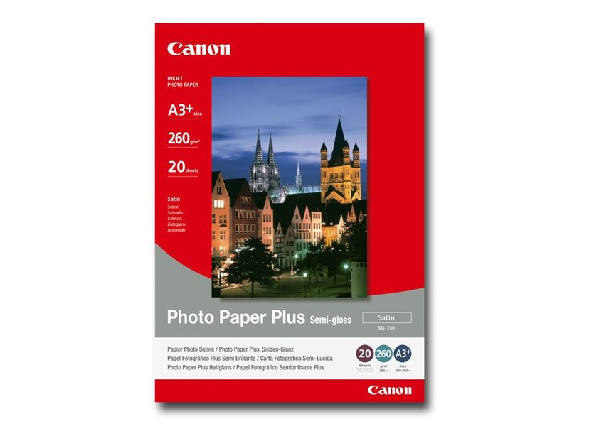Canon Papir Photo+ Semi Glossy SG-201 A3+ 20-Ark 260g