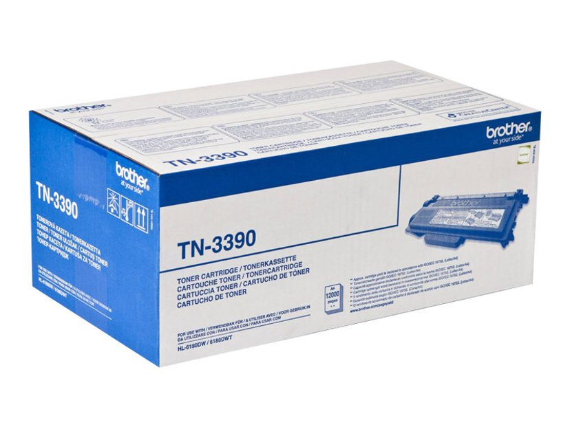 Brother Toner Svart TN-3390 12k - HL-6180/MFC-8950