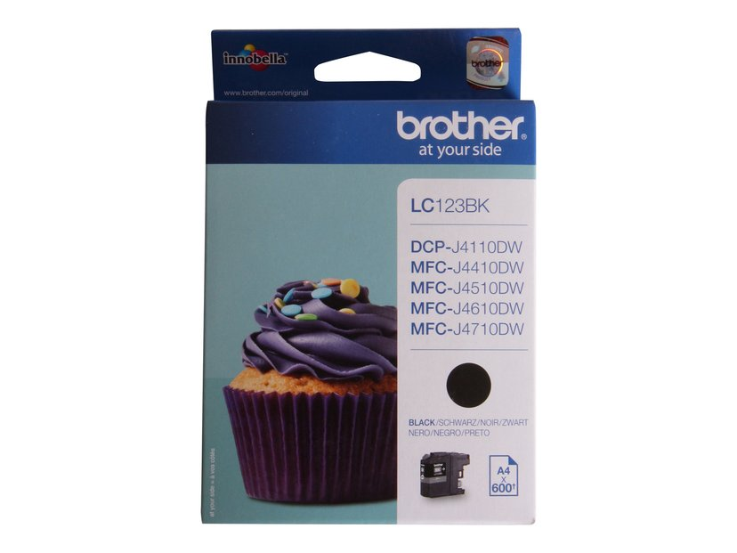 Brother Bläck Svart LC123BK - MFC-J4510DW