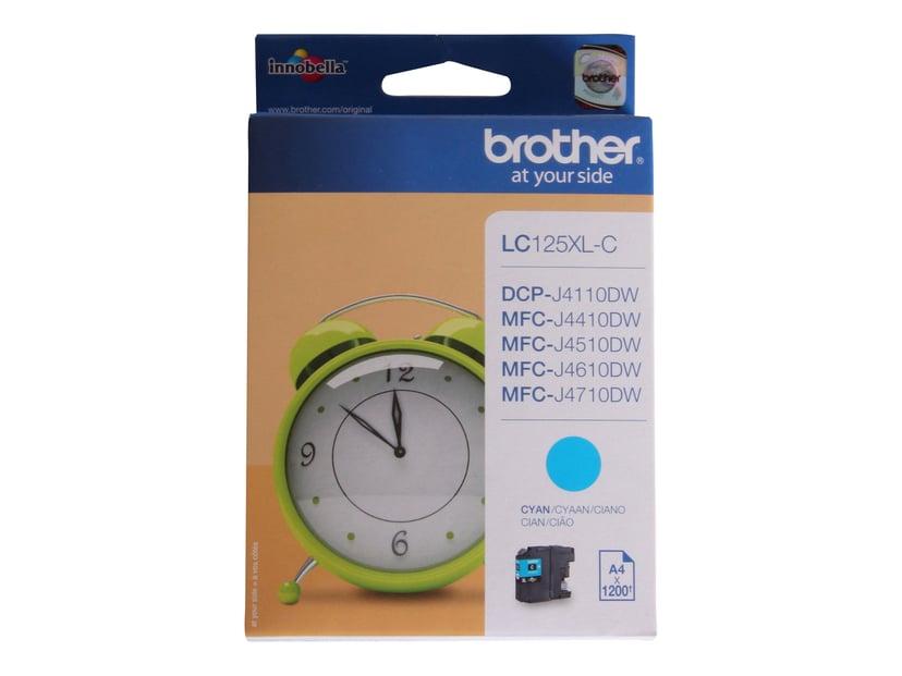 Brother Bläck Cyan HC LC125XLC - MFC-J4510DW