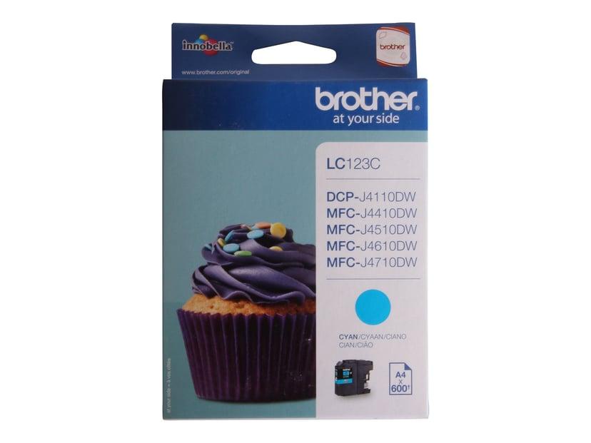 Brother Bläck Cyan LC123C - MFC-J4510DW