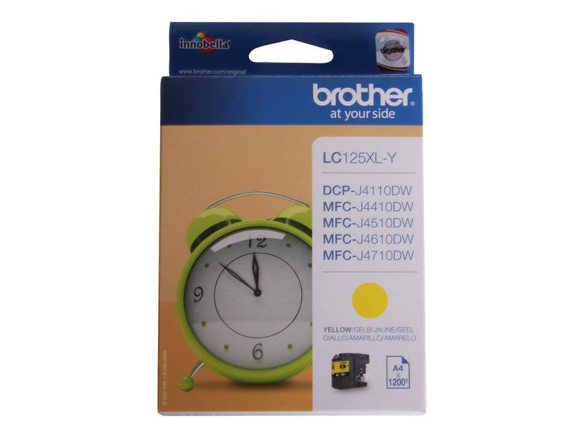 Brother Bläck Gul HC LC125XLY - MFC-J4510DW
