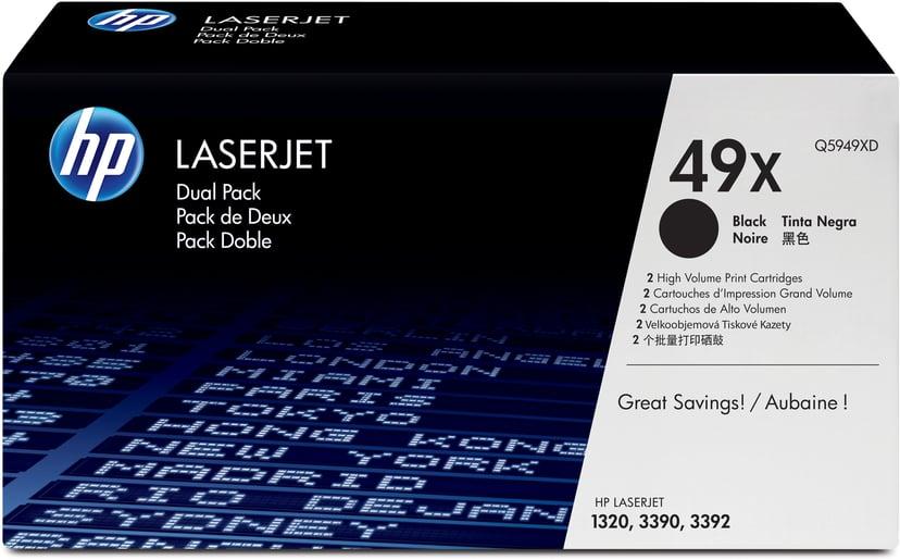 HP Toner Sort 6K - Q5949XD 2-Pack