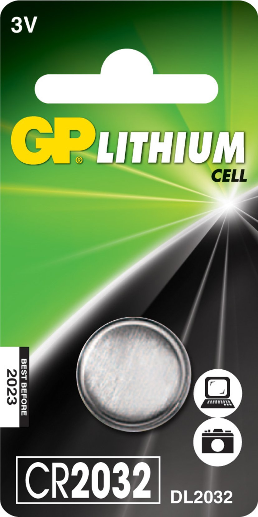 GP Batteri Knapcelle Lithium CR2032 3V