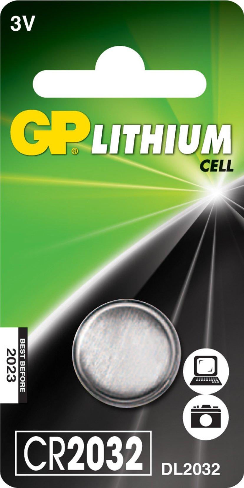 GP Batteri Knappcell Lithium CR2032 3V