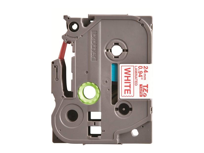 Brother Tape TZE-252 24mm Röd/Hvit