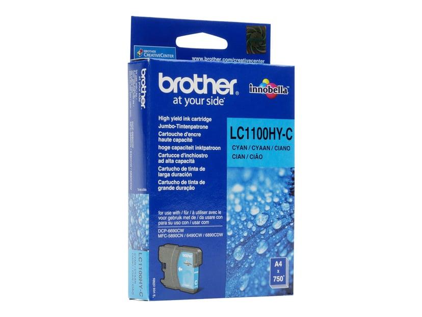 Brother Blekk Cyan LC1100HYC 750 SIDOR
