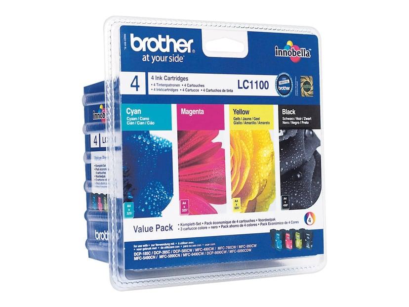 Brother Blekk Multipack LC1100VAL (BK,C,M,Y)