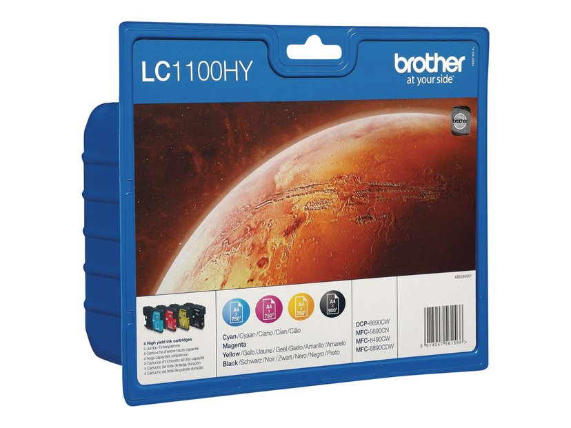 Brother Inkt Multipack HIGH LC1100HYVAL (BK,C,M,Y)