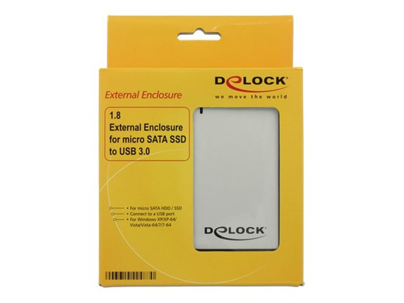 "Delock 1.8 External Enclosure micro SATA HDD / SSD > USB 3.0 1.8"" USB 3.0"