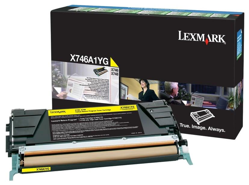 Lexmark Toner Geel 7k - X746/X748 Return