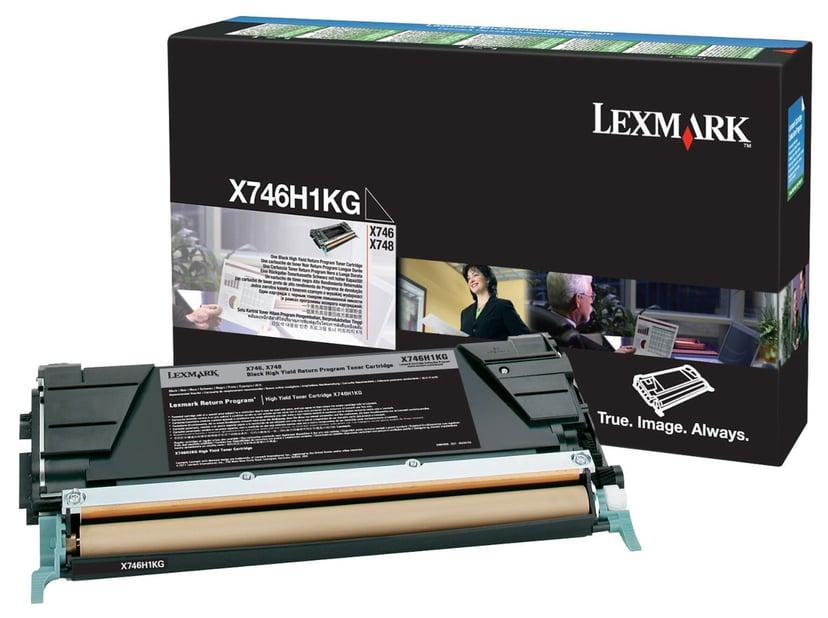 Lexmark Toner Svart 12k - X746/X748 Return