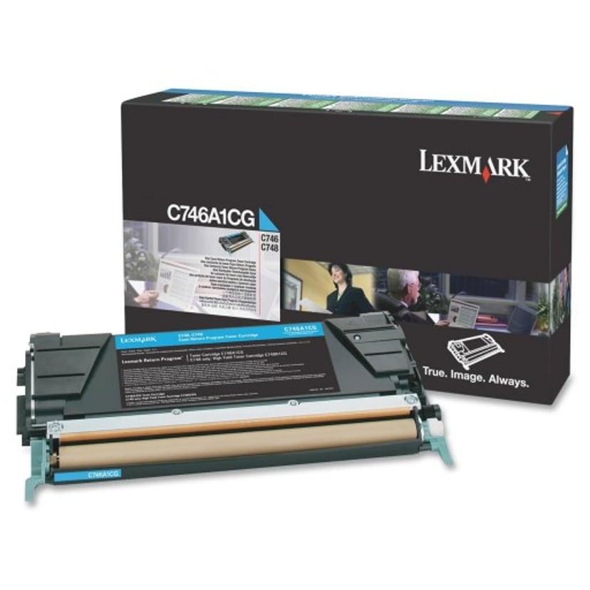 Lexmark Värikasetti Syaani 7k - C746/C748 Return
