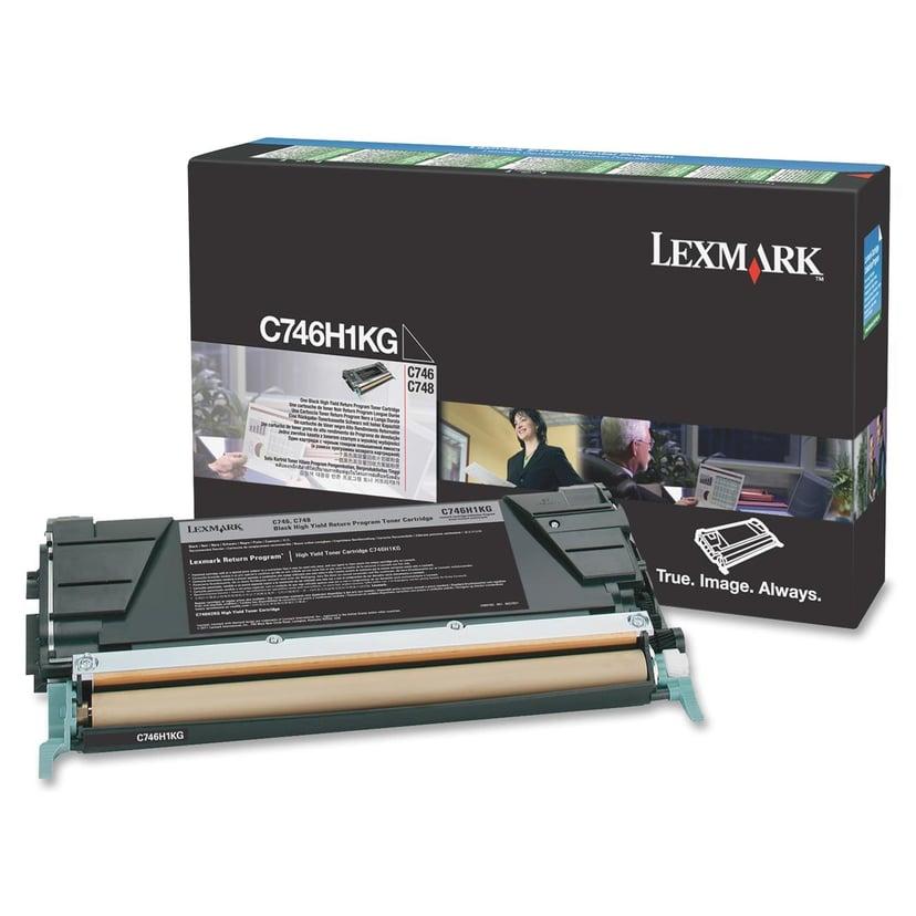 Lexmark Värikasetti Musta 12k - C746/C748 Return