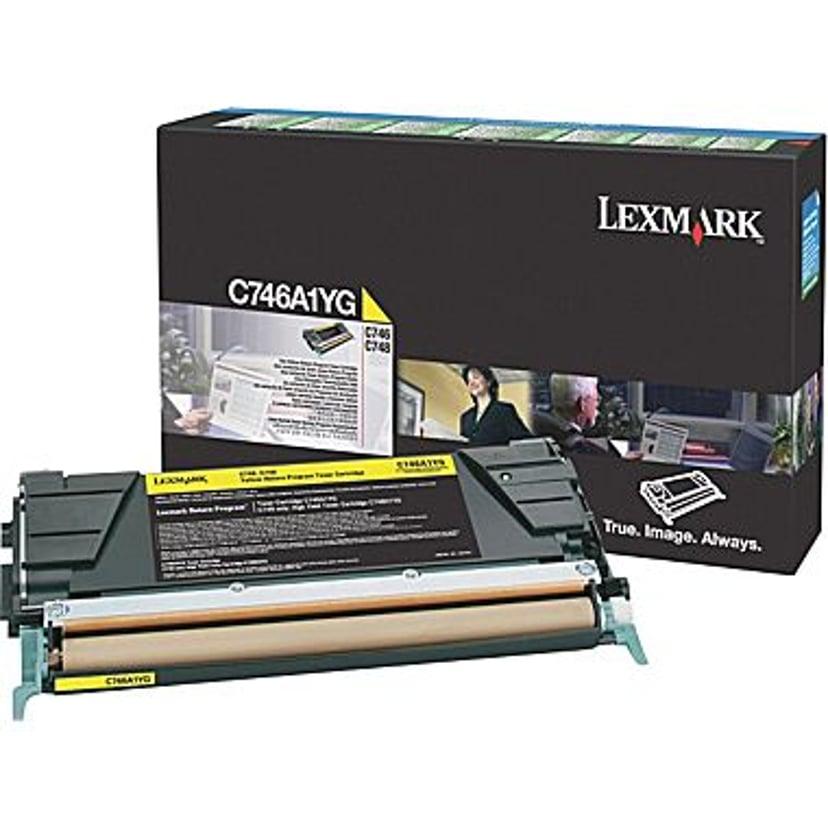 Lexmark Toner Gul 7k - C746/C748 Return