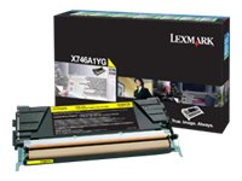 Lexmark Toner Gul 7k - X746/X748 Return