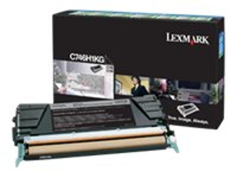 Lexmark Toner Svart 12k - C746/C748 Return