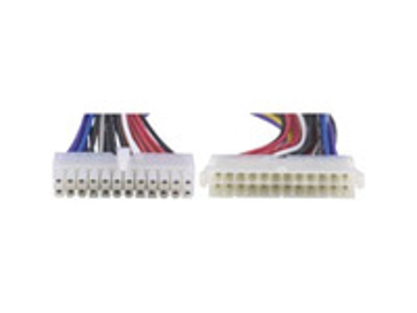 Deltaco Power extension cable 0.15m Virta 24-nastainen ATX Naaras Virta 24-nastainen ATX Uros