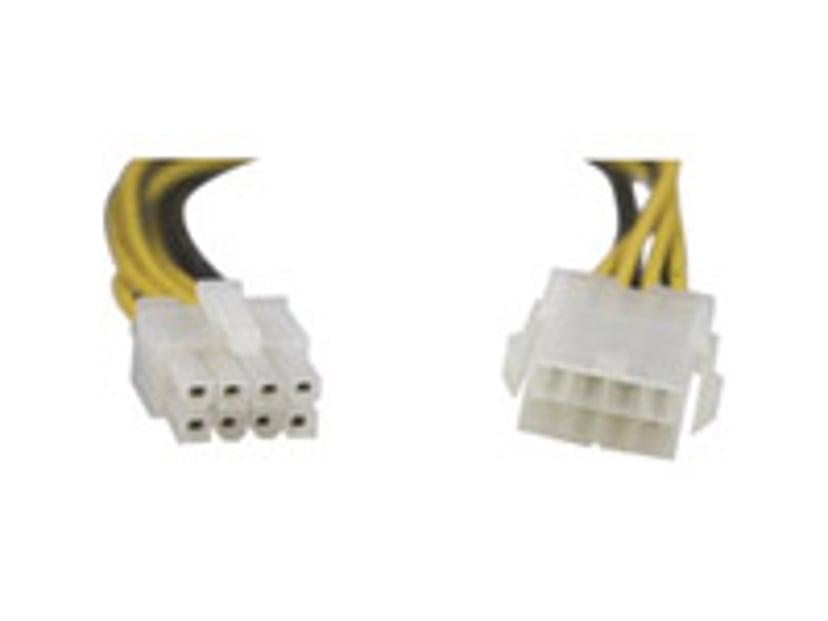 Deltaco Strømforsyningsadapter Strøm 8 pin EPS12 V Han Strøm 8 pin EPS12 V Hun 0.25m