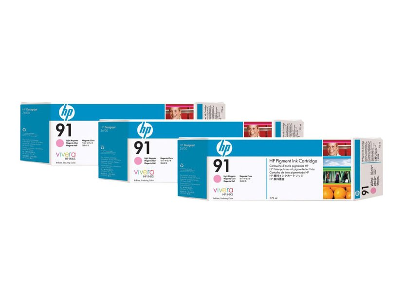 HP Blekk Ljus Magenta No.91 - Z6100 775ml 3-PACK