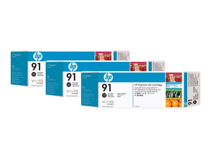 HP Bläck Foto Svart No.91 - Z6100 775ml 3-PACK