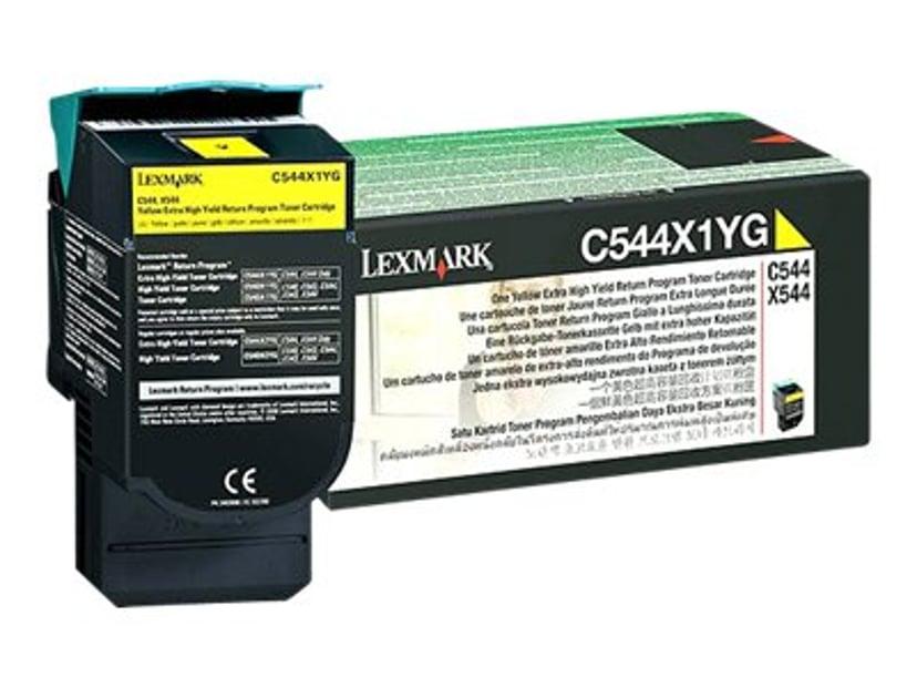 Lexmark Toner Gul 4k Return - C544/X544