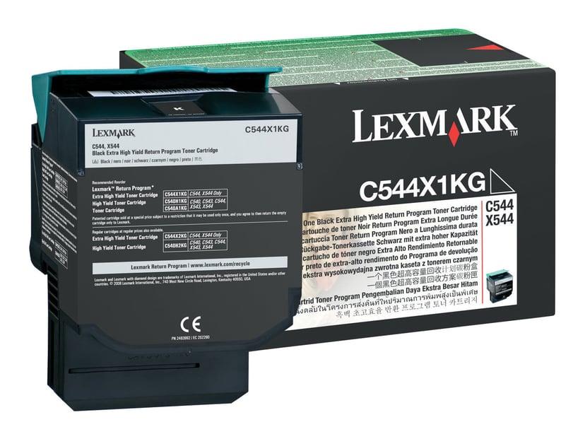 Lexmark Toner Svart 6k Return - C544/X544