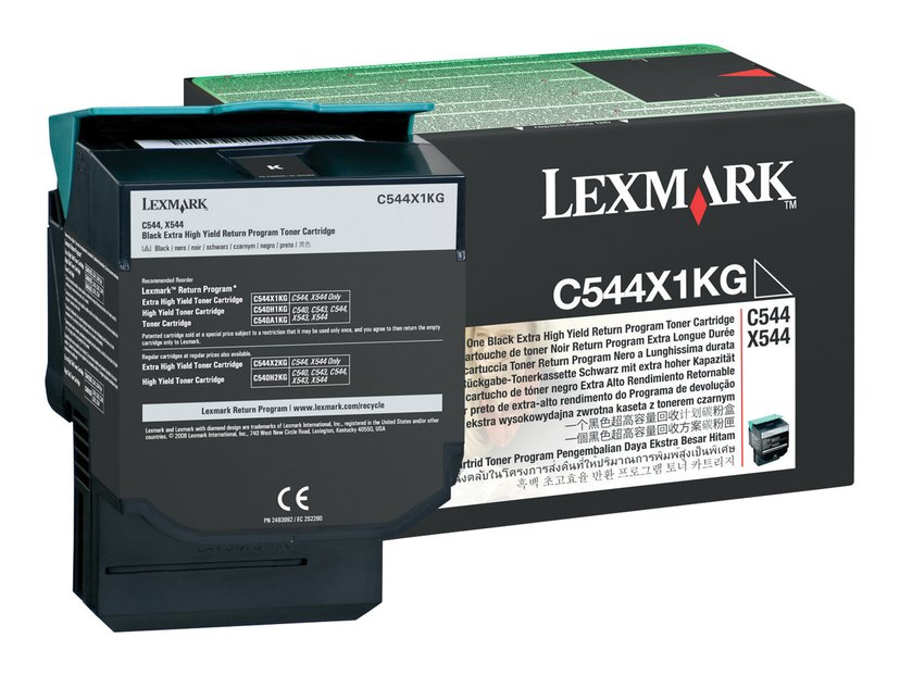 Lexmark Värikasetti Musta 6k Return - C544/X544