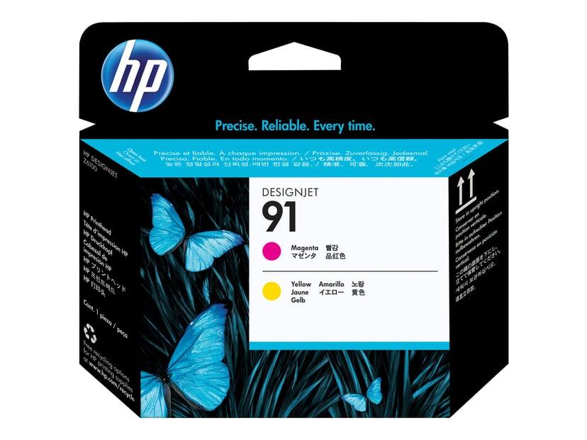 HP Printerhoved NO.91 Magenta/Gul