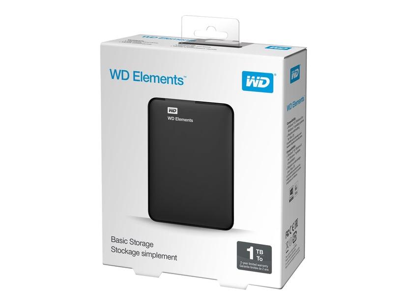 WD Elements Portable 1TB Svart