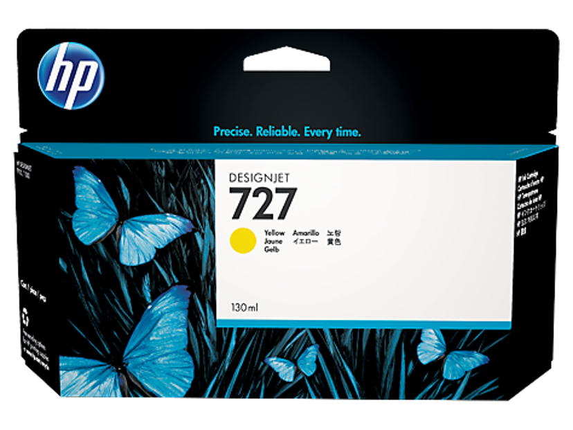 HP Blekk Gul 727 130ml - DJ T920
