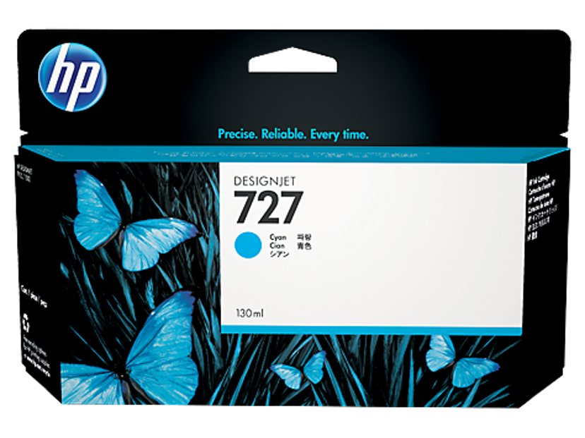 HP Blekk Cyan 727 130ml - DJ T920