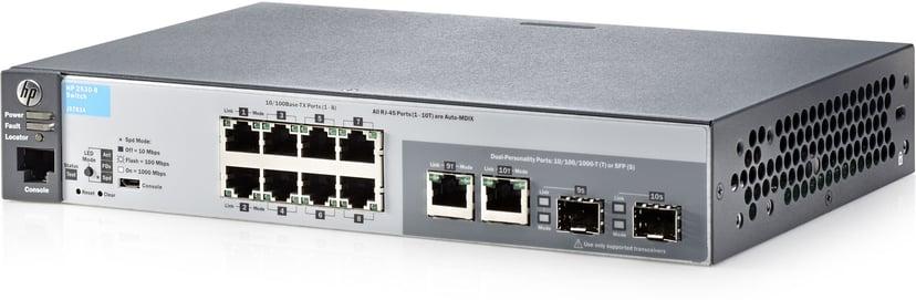 Aruba 2530 8x, SFP Web-mgd Switch