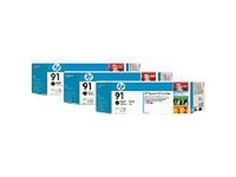HP Blekk Matt Svart No.91 - Z6100 775ml 3-PACK