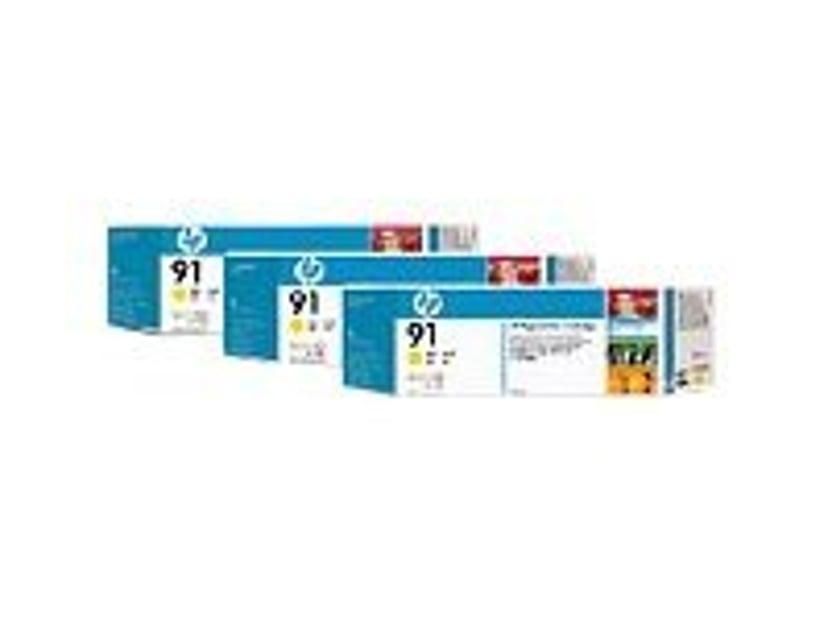 HP Blekk Gul No.91 - Z6100 775ml 3-PACK