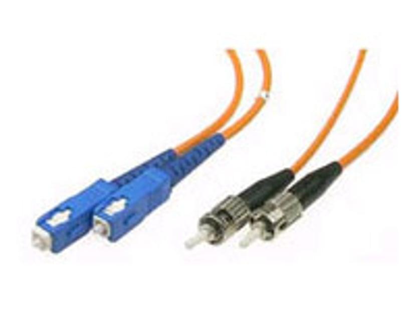 Deltaco Fiberoptisk kabel SC/UPC ST/UPC OM1 1m