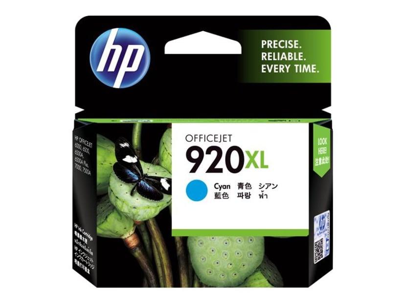 HP Blæk Cyan No.920XL - OfficeJet 6500