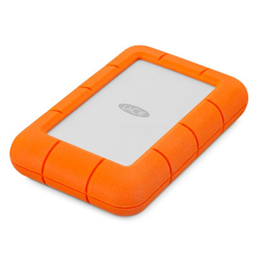 LaCie Rugged Mini 2TB Orange, Sølv