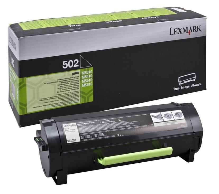 Lexmark Toner Zwart 502 1,5k - MS310/312
