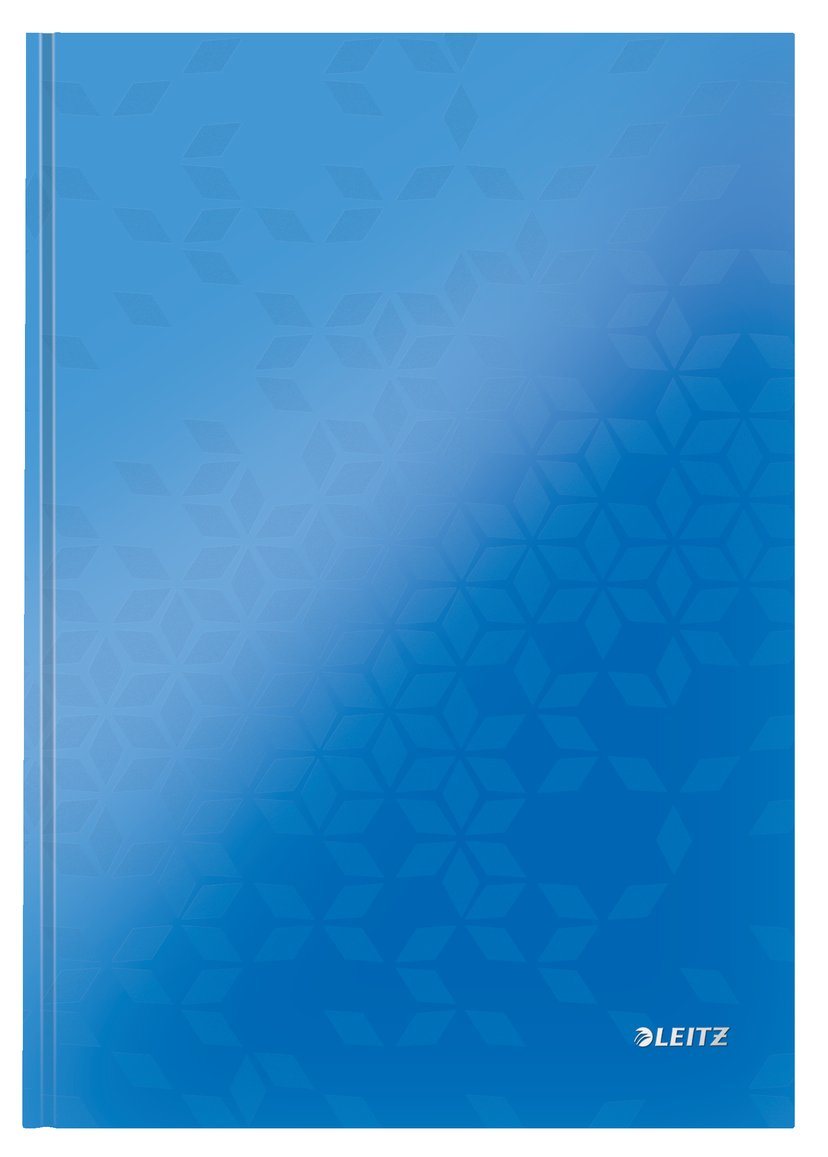 Leitz Note Book WOW A4 Ruled 90G Blue