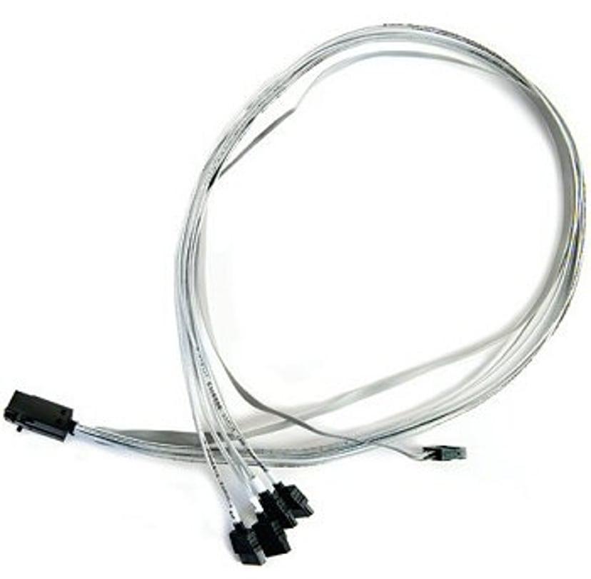 Adaptec SAS internt kabel 0.8m 36 pin 4x Mini SAS HD (SFF-8643) Hun 7 pin Serial ATA Hun