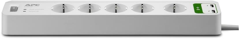 APC SurgeArrest Essential 10A Ekstern 5pieces CEE 7/7 strøm Hvit