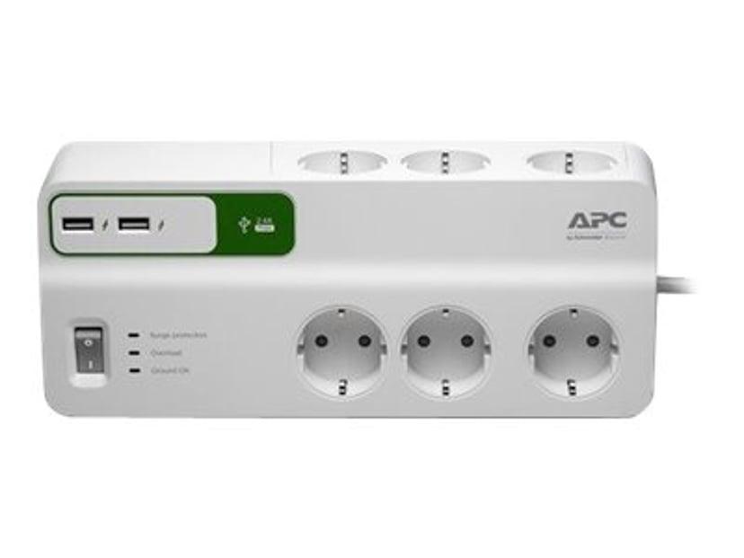 APC SurgeArrest Essential Ekstern 10A 6st Hvit