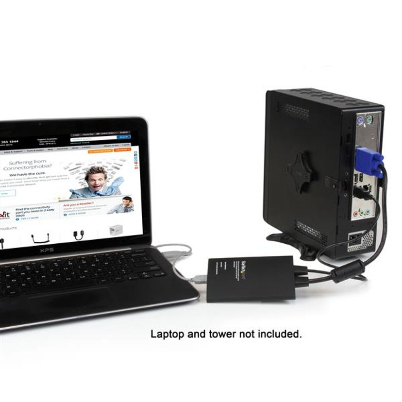 Startech KVM Console to Laptop USB 2.0 Portable Crash Cart Adapter with File Transfer