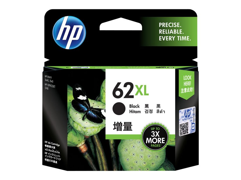 HP Bläck Svart No.62XL - ENVY 5740