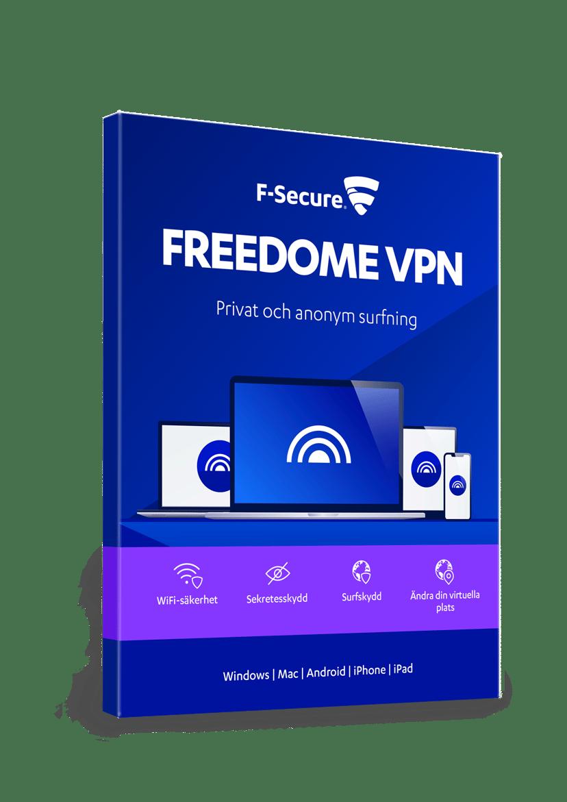 F-Secure F-Secure Freedome VPN 1 år Prenumeration 3-användare PKC