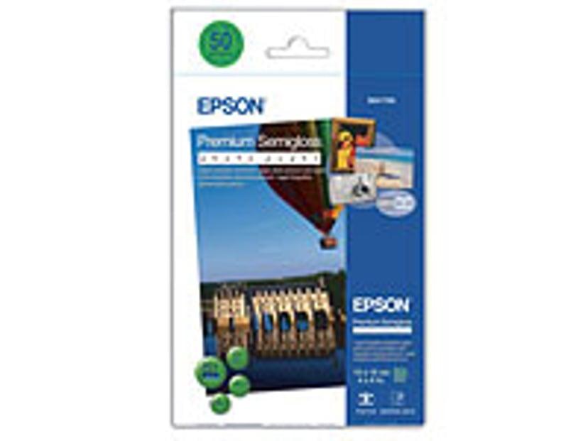 Epson Papper Photo Premium Semi Glossy 10X15cm 50-Ark 251g