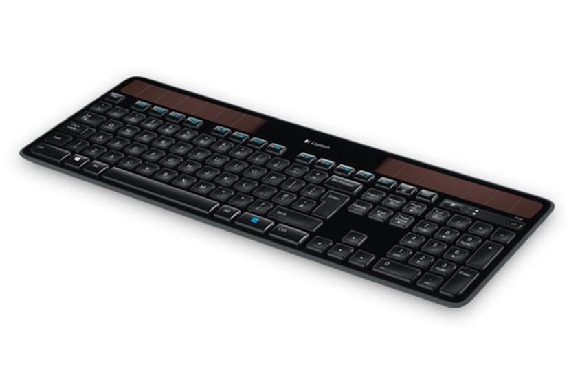 Logitech Wireless Solar K750 UK Layout Näppäimistö Langaton Englanti