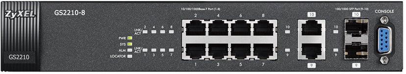Zyxel GS2210-8 8-port Gigabit Managed Switch