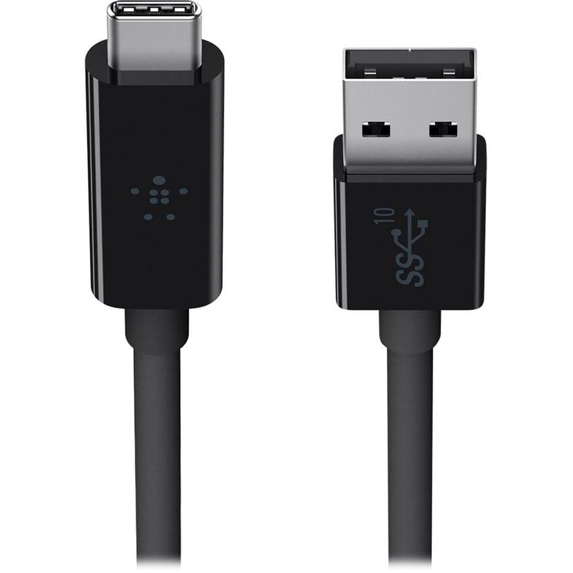 Belkin USB 3.1 USB-C to USB A 3.1 Svart